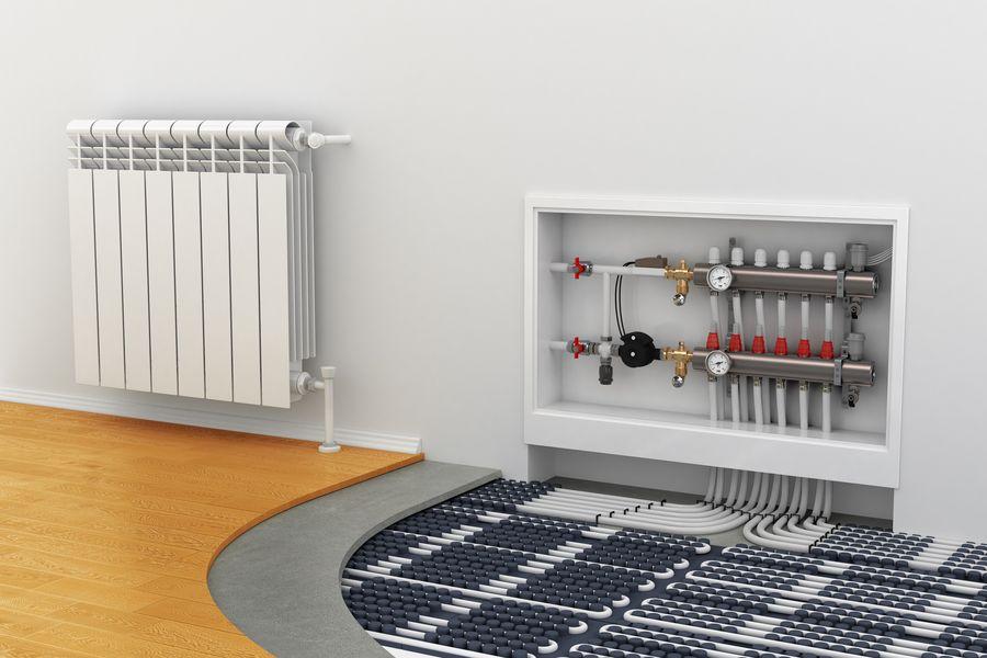 Impianto riscaldamento pavimento e parete