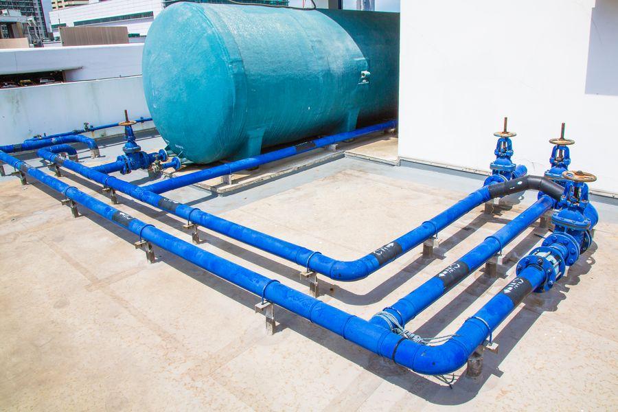 impianto idrico con serbatoio