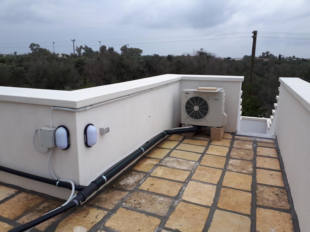 impianto tecnologico di aria condizionata